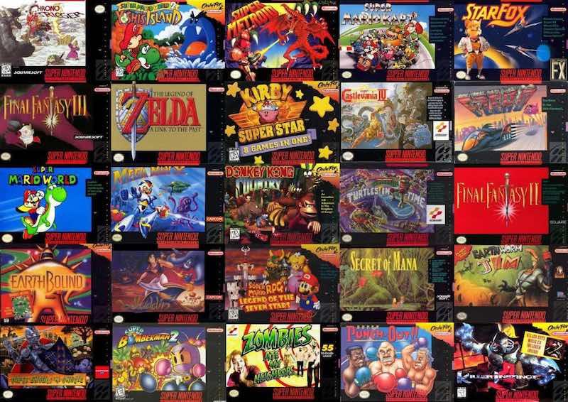snes mini games list