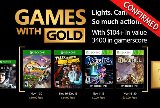 Xbox Games with Gold Novermber 2017 & Microsoft Deals With Gold