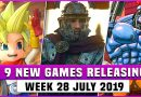 9 NEW Games Releasing  WEEK 29 (2019) Dragon Quest Builders 2 , SolSeraph and More !!!