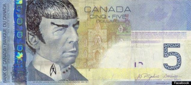 BANK OF CANADA URGES STAR TREK FANS TO STOP 'SPOCKING' THEIR BANK NOTES